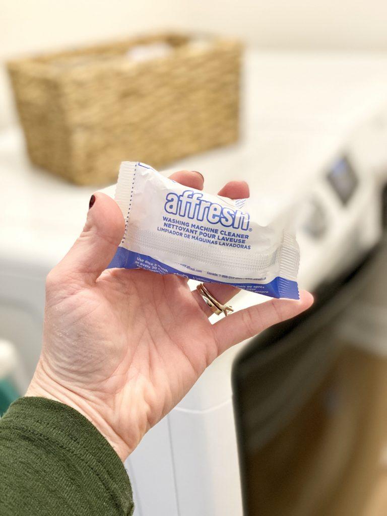 affresh cleaning tab remove washing machine odor