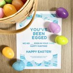 you've been egged Easter activity for kids