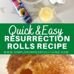 quick and easy resurrection rolls recipe pin