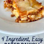 4 ingredient easy baked ravioli lasagna recipe