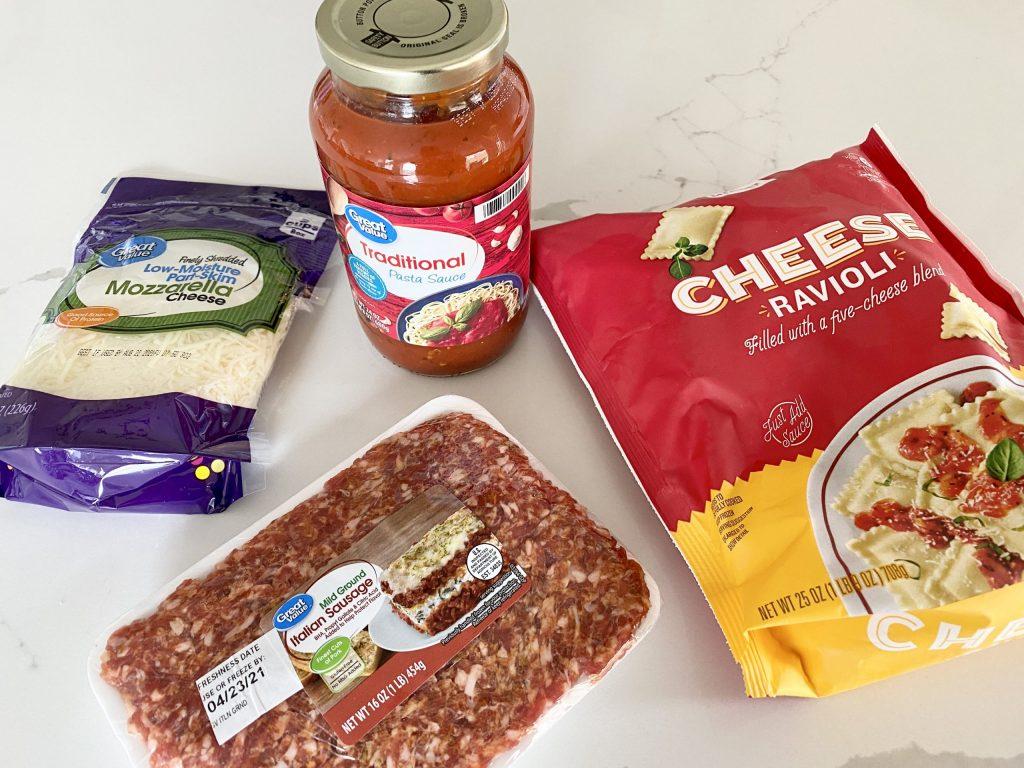 easy ravioli lasagna 4 ingredients
