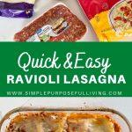 quick and easy ravioli lasagna