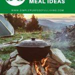 30 easy camping dinner ideas for kids