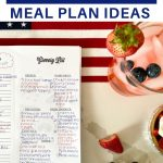 4th of july meal planning ideas & menu