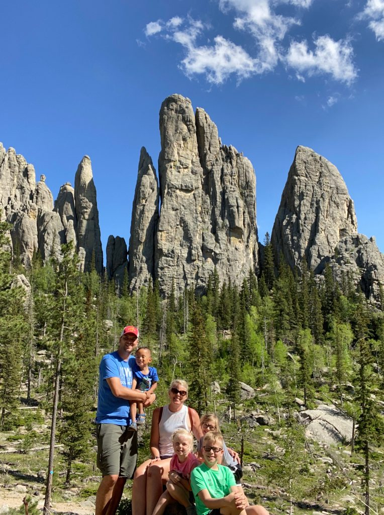 cathedral spires hike custer state park