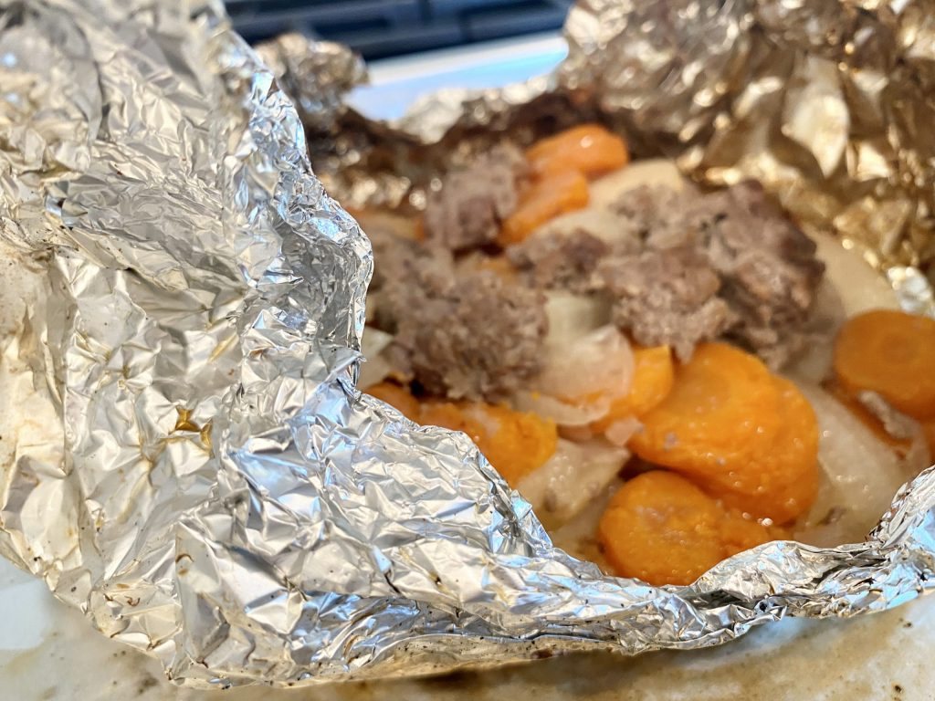 easy camping meal foil packets on the grill
