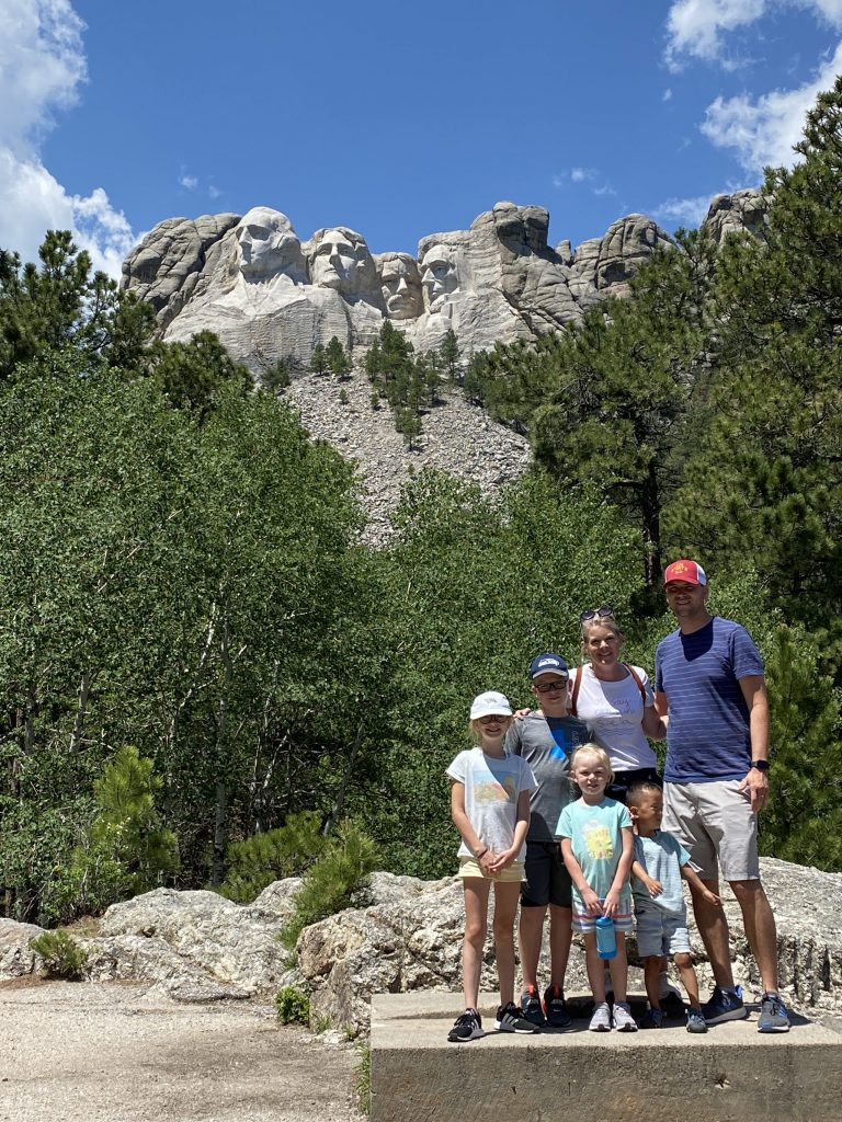 mount rushmore national memorial with kids