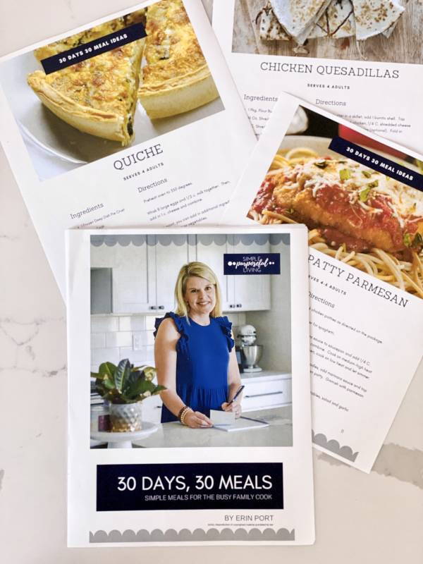 30 days 30 meals cookbook with easy family-firiendly recipes