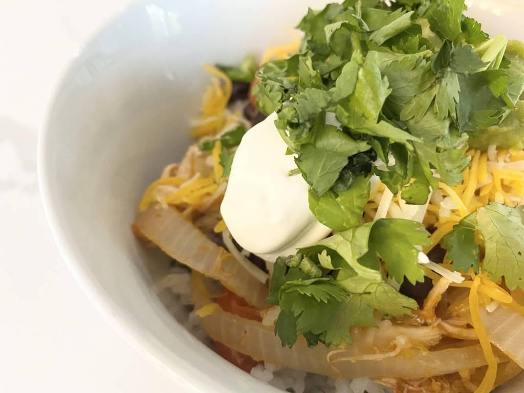 healthy quick homemade burrito bowl recipe