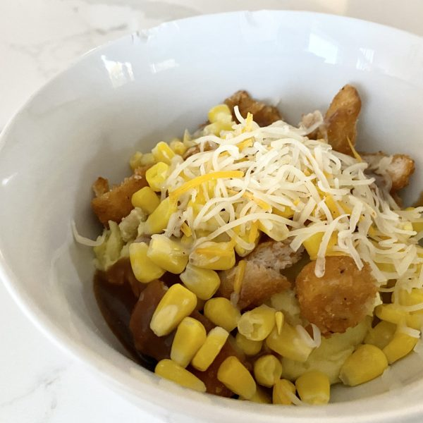 homestyle chicken mashed potato bowl kfc inspired
